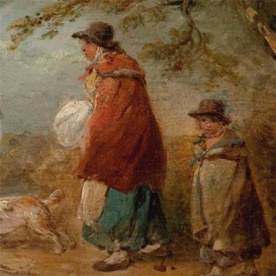 painting of peasant mother and child