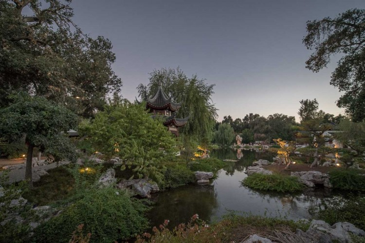 Chinese Garden in the evening