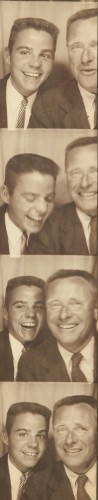 Don Bachardy and Christopher Isherwood in a photobooth