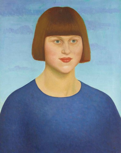 Mark Gertler (British, 1891–1939), Portrait of Dora Carrington, 1912. Oil and tempera on canvas, 20 x 16 in. The Huntington Library, Art Museum, and Botanical Gardens.