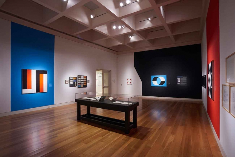 "Installation view of ""Frederick Hammersley: To Paint without Thinking."""