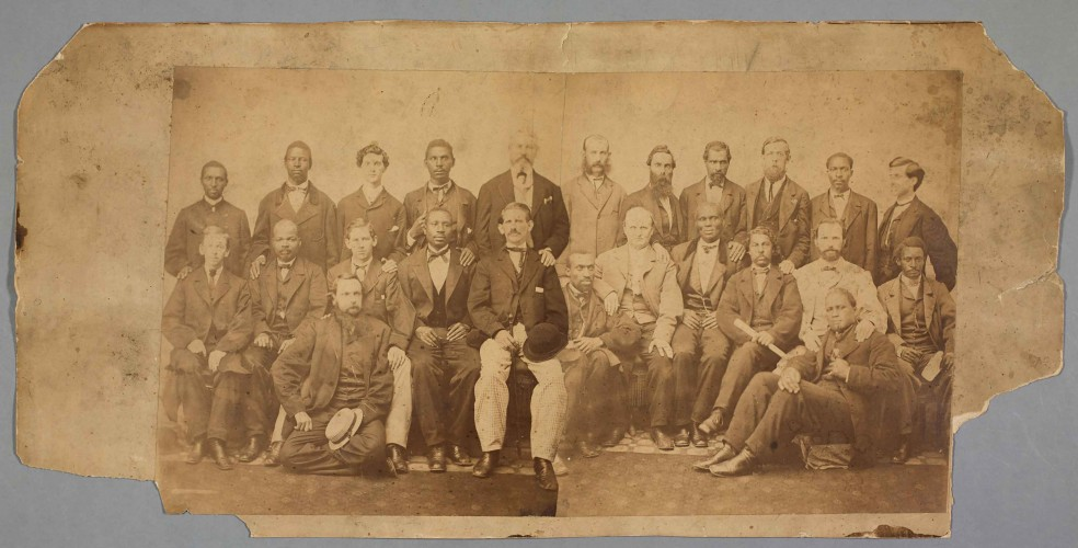 Group portrait of the petit jury impaneled for the Jefferson Davis treason trial, 1867. photOV11470