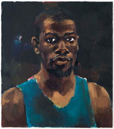 Lynette Yiadom-Boakye, Greenhouse Fantasies, 2014. Oil on canvas, 28 x 24 in. © Lynette Yiadom-Boakye. Courtesy of the artist, Jack Shainman Gallery, New York and Corvi-Mora, London.