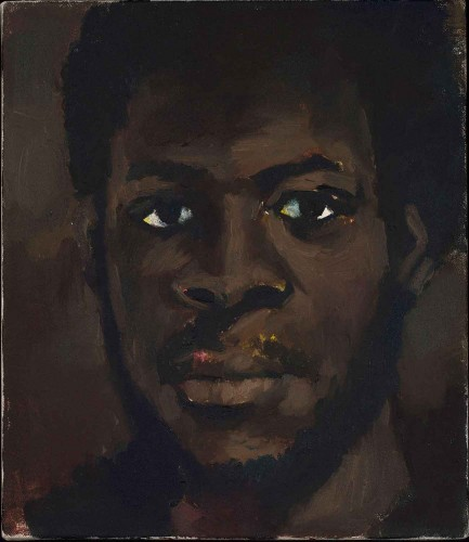 Lynette Yiadom-Boakye, The Needs Beyond, 2013. Oil on canvas, 14 x 12 in. © Lynette Yiadom-Boakye. Courtesy of the artist, Jack Shainman Gallery, New York and Corvi-Mora, London.