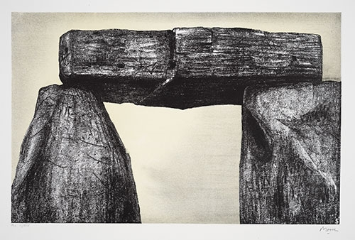 Henry Moore, Stonehenge I, 1973, Lithograph, 23 x 18 in. The Huntington Library, Art Collections, and Botanical Gardens. Gift of Philip and Muriel Berman Foundation. © The Henry Moore Foundation. All Rights Reserved, DACS 2017 / henry-moore.org