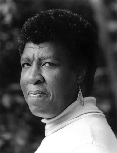 Octavia E. Butler, c. 1988. © Miriam Berkley; for alternative images and questions regarding usage, please contact photographer Miriam Berkley
