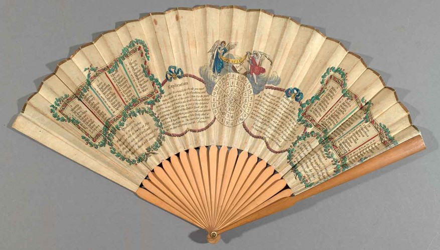 Oracle, London, ca. 1790. Fan, hand-colored engraving and wood. Rare Books Collection. Purchase, Constance Lodge Rare Book Endowment, 2012. The Huntington Library, Art Museum, and Botanical Gardens, San Marino.