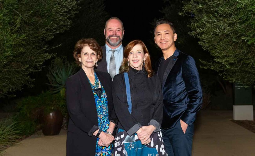 (L-R) President Karen Lawrence with USC Professor Bill Deverell and authors Susan Orlean and Viet Thanh Nguyen