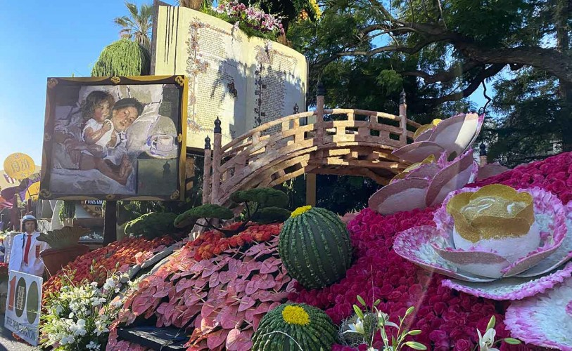 Photo of The Huntington's Rose Parade Float