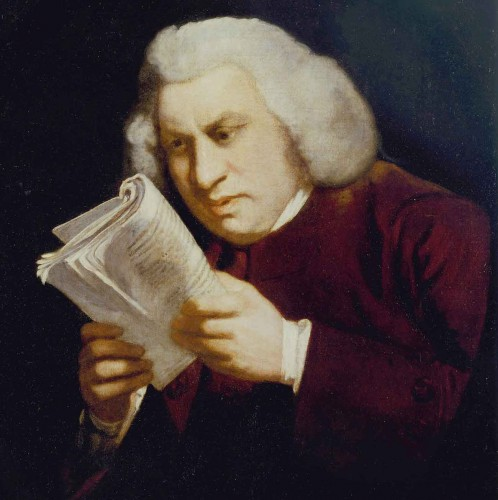 """The famous """"Blinking Sam"""" portrait of Samuel Johnson, painted by his friend Sir Joshua Reynolds in 1775.  © Huntington Library."""