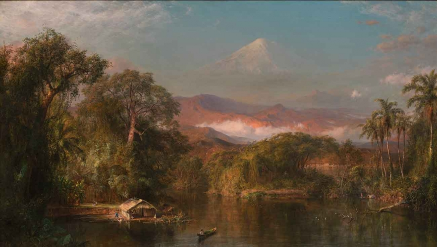 Frederic Edwin Church (1826–1900), Chimborazo, 1864, oil on canvas, 48 × 84 in. The Huntington Library, Art Collections, and Botanical Gardens, gift of the Virginia Steele Scott Foundation. © Fredrik Nilsen photography.