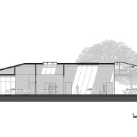 Sectional drawing of the tea room renovation plan