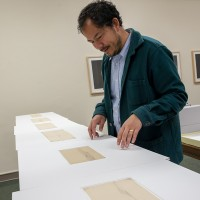 Rosten Woo conducting research at The Huntington. Photo: Kate Lain. The Huntington Library, Art Museum, and Botanical Gardens.