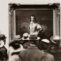 The Blue Boy on display at the National Gallery, London, 1922. The Huntington Library, Art Museum, and Botanical Gardens.