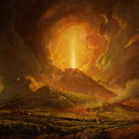 Joseph Wright of Derby (1734-1797), Vesuvius from Portici, ca. 1774-76. Oil on canvas, 39 3/4 x 50 in. The Huntington Library, Art Museum, and Botanical Gardens.