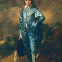 The Blue Boy(ca. 1770) by Thomas Gainsborough (1727-1788). Pre-conservation photo. The Huntington Library, Art Museum, and Botanical Gardens.