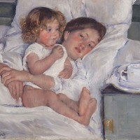 Mary Cassatt (1844-1926), Breakfast in Bed, 1897. The Huntington Library, Art Museum, and Botanical Gardens. Gift of the Virginia Steele Scott Foundation.