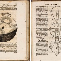Two bound volumes by Christoph Scheiner: Disquisitiones mathematicae, de controversiis et novitatibus astronomicis [Mathematical Investigations, on the controversies and novelties of astronomy], 1614; Exegeses fundamentiorum gnomonicorum quas in alma Ingolstadiensi Academia [Critical Investigation into a Sundial from the Ingolstadt Academy], 1615. Huntington Library, Art Collections, and Botanical Gardens.