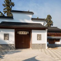 The Chinese Gardens' new art gallery, known as the Studio for Lodging the Mind 寓意齋. The Huntington Library, Art Museum, and Botanical Gardens. Photo by Beth Coller