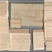 Documents of the Walking Purchase and the Councils of Easton, 75 manuscripts, including two manuscript maps, 1685–1762. The Huntington Library, Art Museum, and Botanical Gardens.