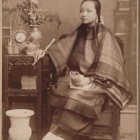 Unknown photographer, Chinese woman sitting for a studio portrait, Old Chinatown, Los Angeles, ca. 1900. The Huntington Library, Art Museum, and Botanical Gardens.