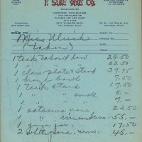 F. Suie One Co. receipt. Undated. The Huntington Library, Art Museum, and Botanical Gardens.