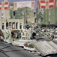 The Huntington's 1969 Rose Parade® float, sponsored by the city of San Marino, Calif.
