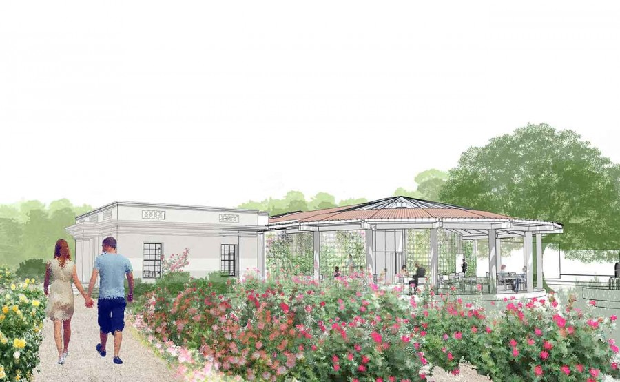 Elevation drawing shows what will be the Shakespeare Room