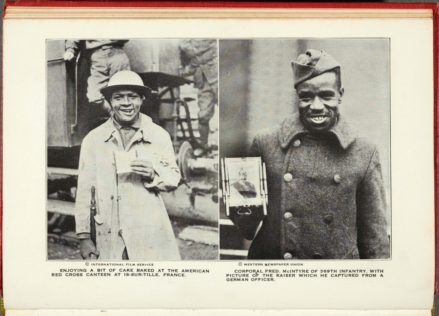 International Film Service and Western Newspaper Union, photographs from William Allison Sweeney (1851–1921), History of the American Negro in the Great World War: His Splendid Record in the Battle Zones of Europe, 1919. Chicago: Cuneo-Henneberry. The Huntington Library, Art Collections, and Botanical Gardens.