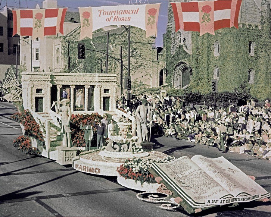 The Huntington's float in the 1969 Rose Parade®, sponsored by the city of San Marino, Calif.