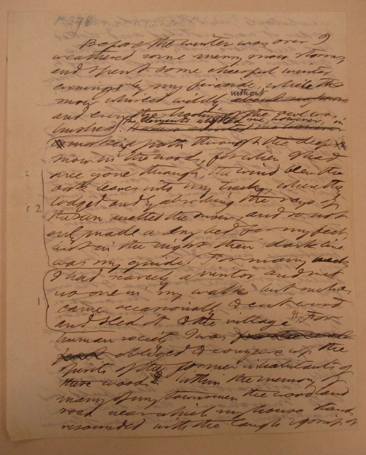 Henry David Thoreau (1817–1862), Walden, autograph manuscript, page 127, 1846–1853. The Huntington Library, Art Museum, and Botanical Gardens.