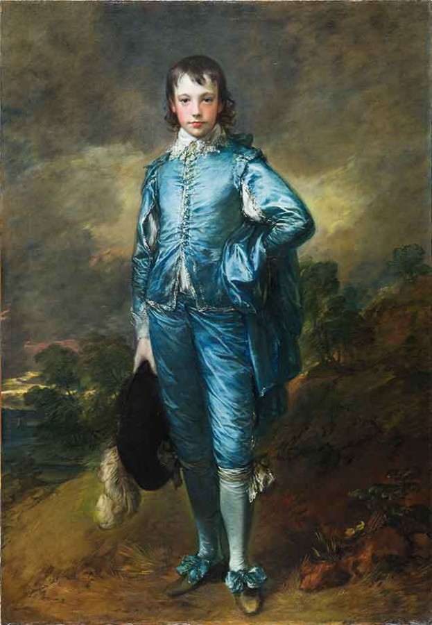 The Blue Boy (ca. 1770) by Thomas Gainsborough (1727–1788). Post-conservation photo. Photo: Christina Milton O'Connell. The Huntington Library, Art Museum, and Botanical Gardens.