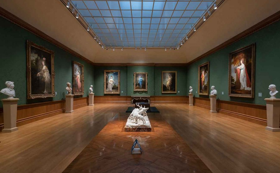 Installation view of The Blue Boy in The Huntington Art Gallery. Photo: John Sullivan. The Huntington Library, Art Museum, and Botanical Gardens.