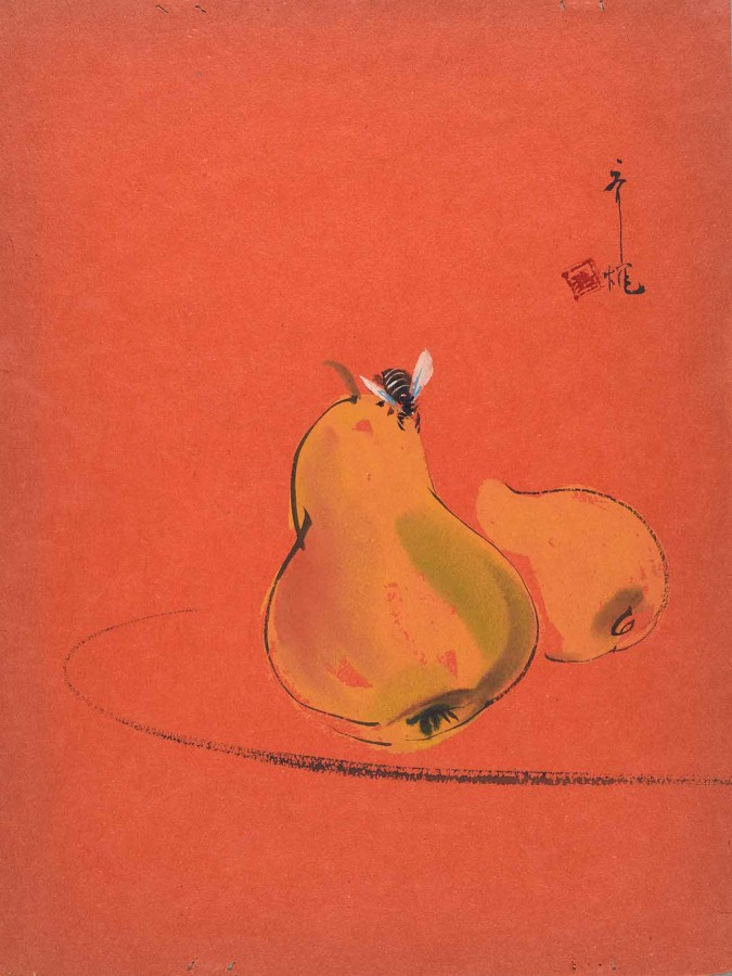 Dragon's Den menu cover, illustrated by Chinese American artist Tyrus Wong, ca. 1935. The Huntington Library, Art Museum, and Botanical Gardens.