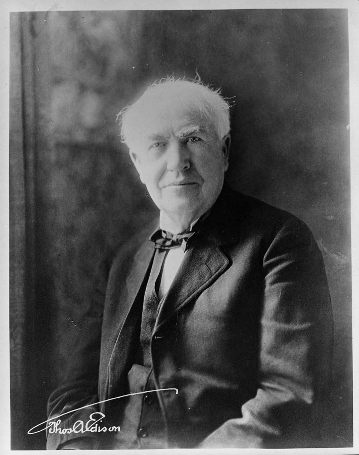 Portrait of Thomas Alva Edison; undated. Southern California Edison Photographs and Negatives Collection. The Huntington Library, Art Museum, and Botanical Gardens.