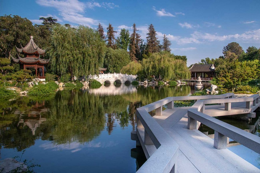View of the Chinese Garden, where the new art gallery will showcase an exhibition of Chinese calligraphy. The Huntington Library, Art Museum, and Botanical Gardens. Photo by Martha Benedict