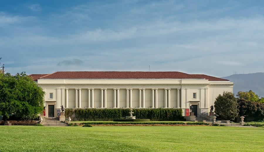 Exterior of the Library Exhibition Hall at The Huntington. Photo: Alexander Vertikoff. The Huntington Library, Art Collections, and Botanical Gardens.