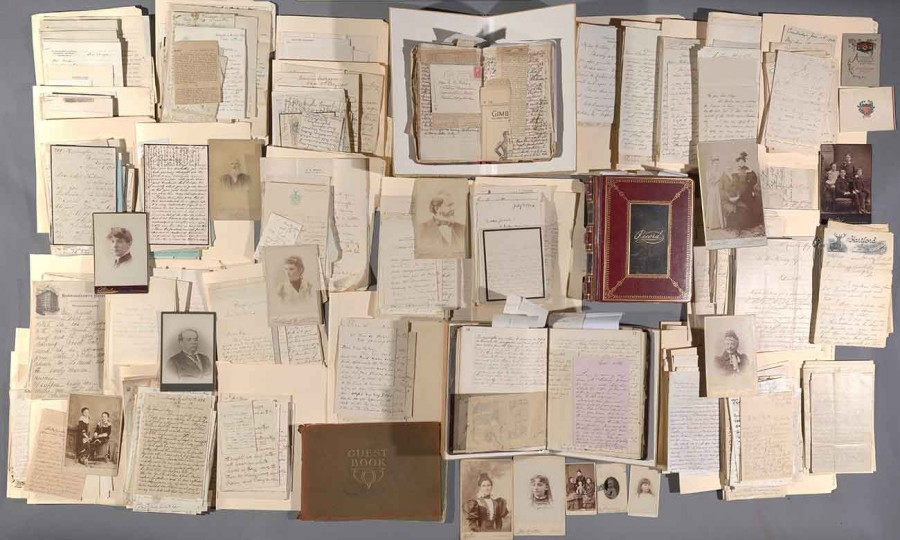 The archive of novelist Jeanette G. W. Kelsey (1850–1930), containing 1,354 letters, totaling 4,200 pages; Jeanette G. W. Kelsey's two-volume manuscript memoir of her friendship with Julia Clara Pitt Byrne (1818–94) and her 1921 diary; 49 photographs; ephemera; and nine books, 1863–1925. The Huntington Library, Art Museum, and Botanical Gardens.