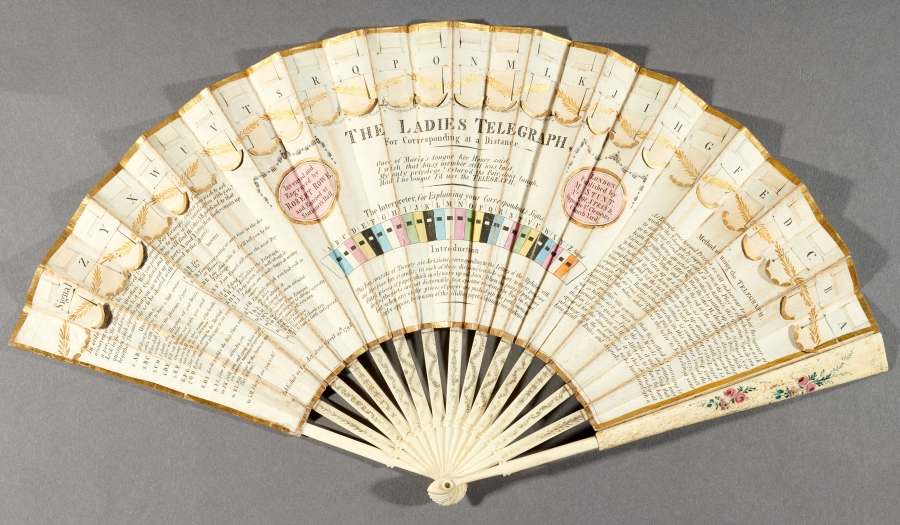 color photograph of 1798 hand fan