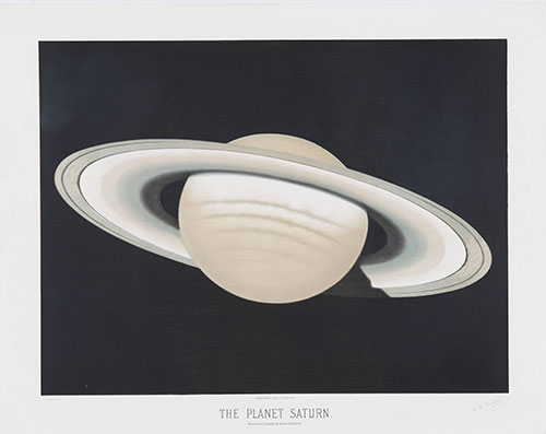 E.L. Trouvelot's drawing of Saturn