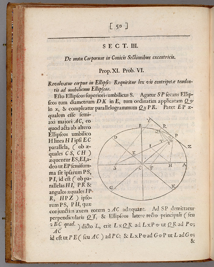 First edition of Isaac Newton's Principia Mathematica (Mathematical Principles), 1687. The Huntington Library, Art Collections, and Botanical Gardens.