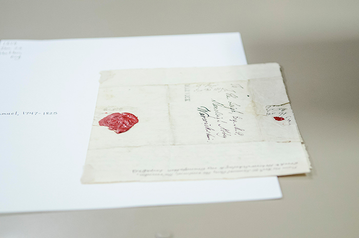 A letter from the Leigh Family Papers, unpublished letters and manuscripts from Jane Austen's mother's family, 1686–1823, 1866. The Huntington Library, Art Collections, and Botanical Gardens. Photo by Lance Hayashida/Caltech.