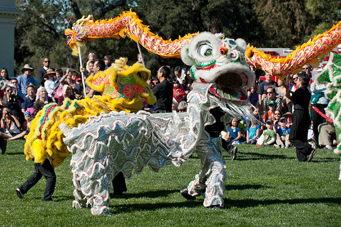 The Huntington will celebrate the Lunar New Year with a cultural festival on Feb. 20 and Feb. 21. Visitors can enjoy music, dance, demonstrations, exhibits, Asian cuisine, and lively performances, including crowd-pleasing lion dancers. Photo by Martha Benedict.