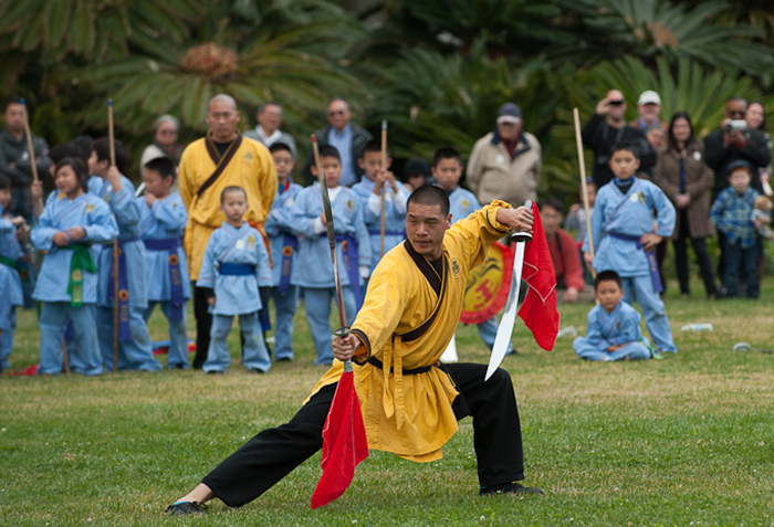 Martial arts students, including young boys and girls, will demonstrate their athleticism. The Shaolin style of kung fu, deeply rooted in Chinese mythology and philosophy, is part of the monastic life of Shaolin Buddhist monks. Photo by Martha Benedict.