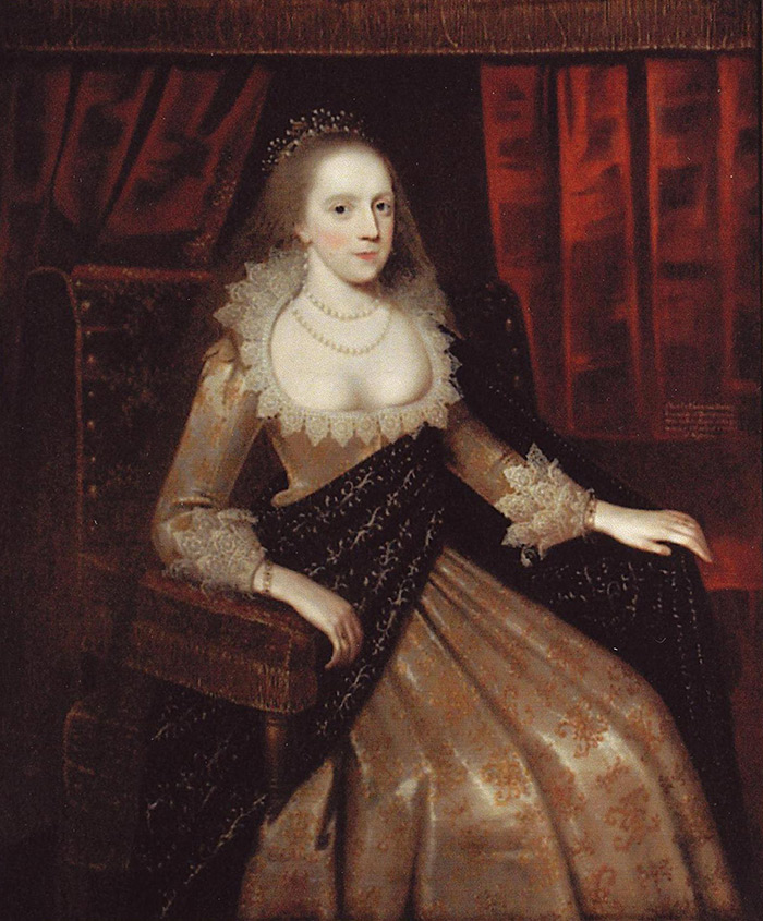Frances Stanley Egerton, Countess of Bridgewater. Oil painting, possibly by Paul van Somer. Private collection at Ashridge House.