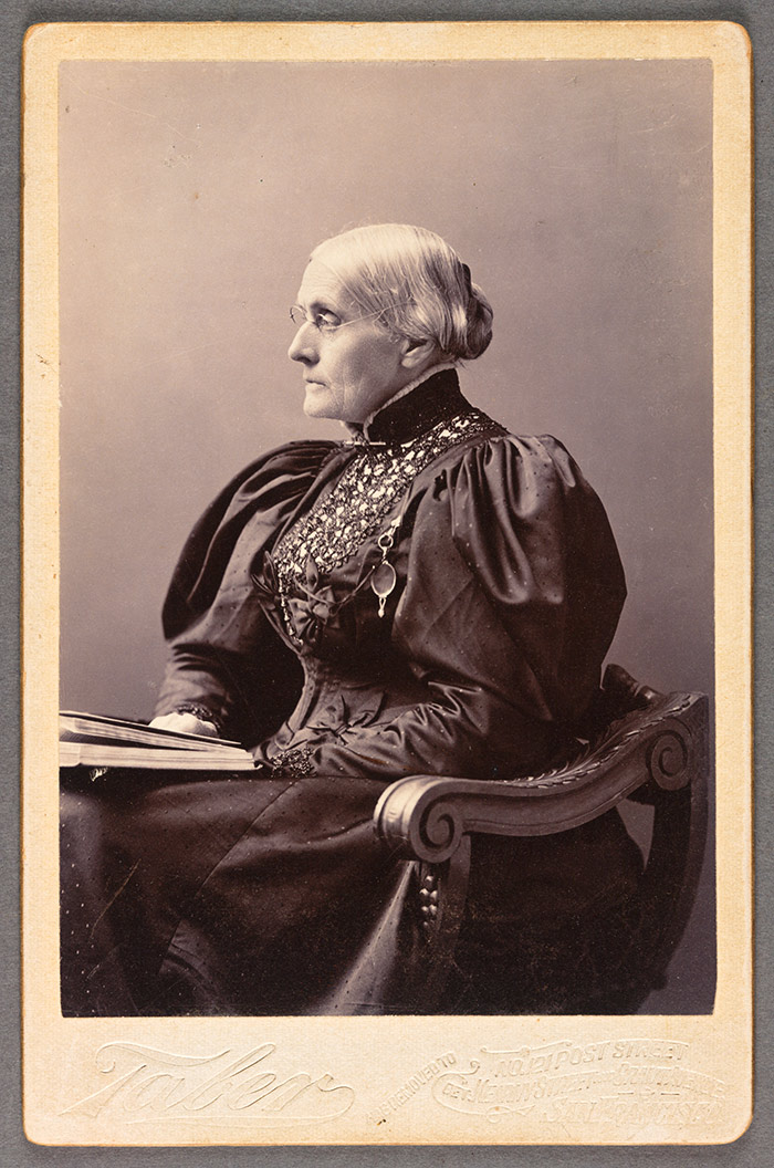 Portrait of Susan B. Anthony, 1895, Taber Photographic Co. The Huntington Library, Art Collections, and Botanical Gardens.
