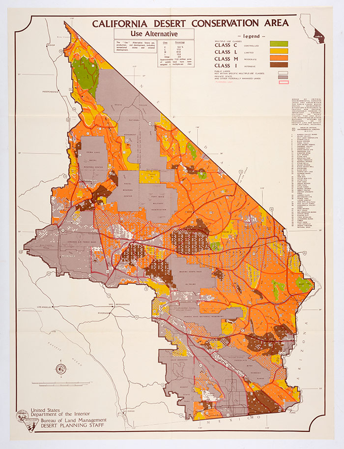 Industry California Map.Contested Visions Of The Southern California Desert The Huntington