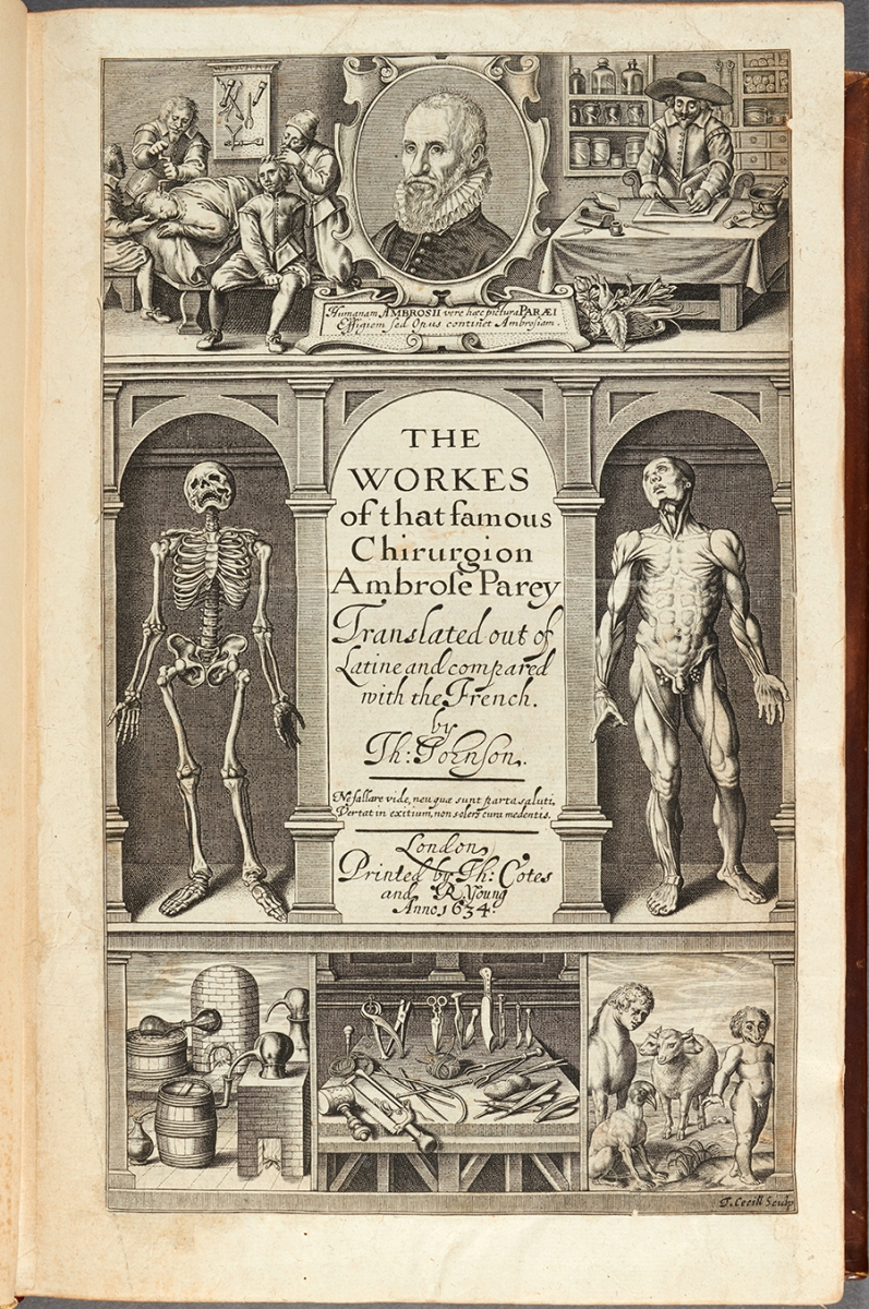 Title page of 1634 English edition of Ambroise Paré works