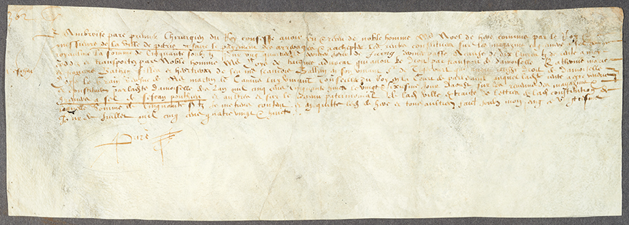 Receipt from July 15, 1573
