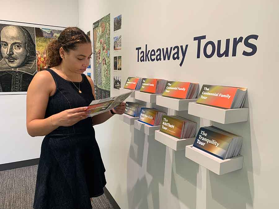 Self-guided Takeaway Tours are tailored to fit your interests and encourage new ways of experiencing the collections. Photo by Deborah Miller.